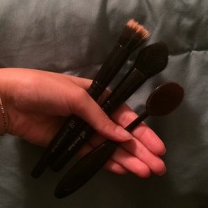 Three brushes and a highlighter!